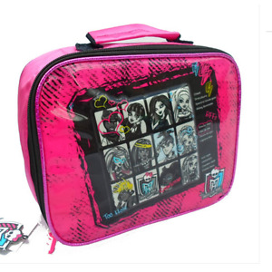 MONSTER HIGH Sac à gouter rose & noir  lunch bag   Neuf