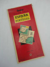 Vintage Foldex No. 3 Map Of Central East Spain Including Madrid Mallorca 1959