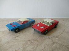 2x altes MATCHBOX Dodge Challenger Nr. 1 England in blau und rot von 1975