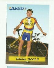 CYCLISME carte cycliste DAINIS OZOLS équipe MROZ 1988  10 / 7  cm