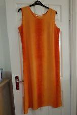 ORANGE LIGHT WEIGHT SLEEVELESS DRESS - Size 16 - HOLIDAY??