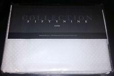 Fiorentino Dobby Dot King Bedskirt 305 TC 100% Egyptian Combed Cotton White NIP
