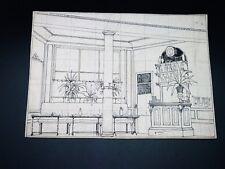 PROJET DECOR THEÂTRE Dessin Original OPERETTE [Atelier PH GANNE] Café Brasserie