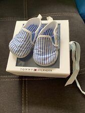 Baby Schuhe Gr.18 Tommy Hilfiger Blau/weiß Gestreift mit Schachtel