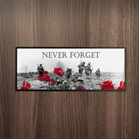 NEVER FORGET REMEMBRANCE BAR RUNNER *DONATION TO POPPY APPEAL EVERY SALE*