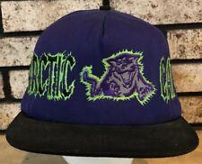 Arctic Cat Embroidered Cap Hat - Purple & Black vtg Made USA SnapBack EUC Artic