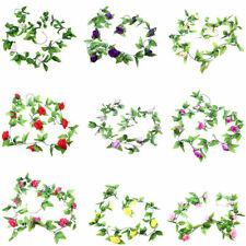Fake Rose Garland Silk Flower Rattan Home Wedding Party Garden Decor Plant