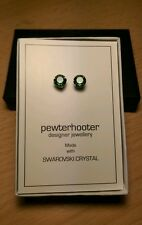 925 silver earrings with palace green opal crystal from Swarovski