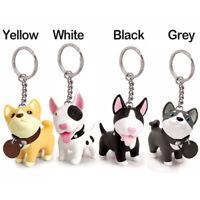 Cute Dog Keychain Figure Doll Toys Lovely Key Ring Holder Shiba Inu Bull Terrier