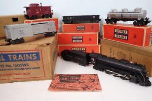 Vintage Postwar Lionel Outfit 1505WS #2046 Steam Engine & Freight Car Set In Box