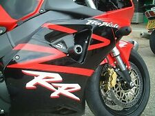 R&G Black Classic Style Crash Protectors for Honda CBR954RR 2003