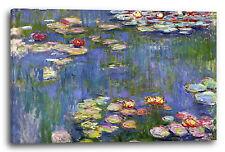 Lein-Wand-Bild Kunstdruck: Claude Monet Seerosen ca. 1916