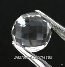 DIAMOND QUARTZ 8 MM BALL CUT BRIOLETTE DRILLED ALL NATURAL AAA