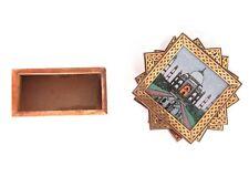 New listing Handmade Wooden Tea Coaster Taaj-mahal Print Cup Mat Coffee Mug Drinks Holder