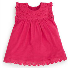 •••ВNWT NEXT Party Bright Pink  Jersey & Embroidered Dress • Cotton • 0-3 Months