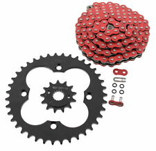 Red O-Ring Chain and Black Sprocket for 1999-2004 Honda 400EX TRX400EX 13/39 94L