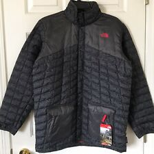 $150 NWT Boys The North Face Hayden Thermoball Jacket Graphite Gray Heather L