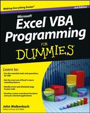 Excel VBA Programming For Dummies-John Walkenbach, 9781118490372