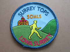 LDWA Surrey Tops 50 Mls Walking Hiking Cloth Patch Badge (L3K)