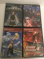 Lot Of PS2 Games Tomb Raider, Virtua Fighter 4, Final Fantasy X, Dynasty Warrior