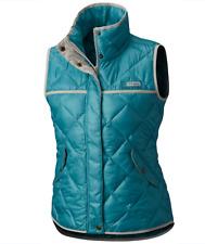 Columbia Womens M PHG Harborside Diamond Quilted Vest Teal/Light Cloud Jacket