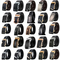 Dressy Men Automatic Buckle For Leather Ratchet Belt Waistband Strap Waist Charm