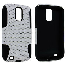 White / Black Hybrid Hard Case Cover for Samsung Galaxy S II Hercules T989