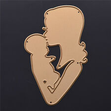 Gold Metal Kiss Mom Cutting Dies Stencil DIY Scrapbooking Diary Template Decor