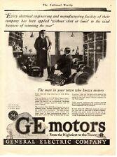 1918 Original Vintage General Electric (Ge) Motors Magazine Ad (M)