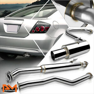 """For 05-10 Scion tC 2-Dr 2.4L 4"""" Muffler Tip Stainless Steel Catback Exhaust Pipe"""