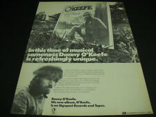 Danny O'Keefe is refreshingly unique Original 1972 Promo Poster Ad mint cond