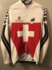 Assos mens Large EQUIPE SUISSE CYCLING JERSEY LONG SLEEVE THERMAL