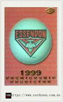 1999 Select AFL Trading Cards Holofoil Premiership Predictor Card PC5 Essendon