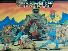 """Vintage 1985 THUNDERCATS MALES 12 x 16"""" Laminated Double Sided PLACEMAT Icarus"""