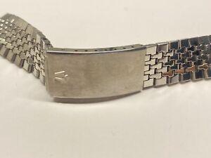 vintage bulova accutron stainless steel bracelet 9/19 mm lug