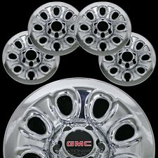 "Set of 4 GMC 1500 6 Lug 17"" Chrome Wheel Skins Rim Simulators Hub Caps Covers"