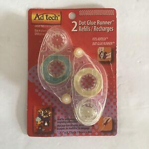 Ad Tech 2 Pack Dot Glue Runner Refills