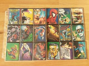 Spider-Man 30th Anniversary Trading Cards Complete Full Base Set
