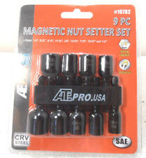 """9 PC NEW 1/4"""" TO 1/2"""" x 2"""" LONG MAGNETIC NUT DRIVER SETTERS 1/4"""" QUICK CHANGE"""