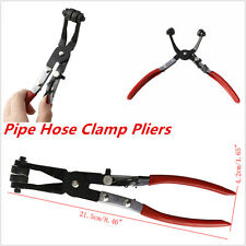 Car Pipe Hose Clamp 45° Pliers Fuel Coolant Angled Swivel Jaw Locking Clip Newly