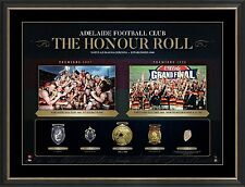 Adelaide Crows AFL Honour Roll with Medallions Print Framed 1997 1998 PREMIERS