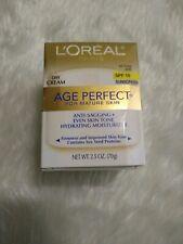 L'OREAL Age Perfect Anti-Sagging Hydrating Moisturizer Day Cream SPF 15, 2.5oz