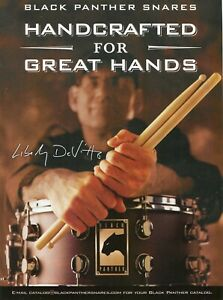 2004 Print Ad of Mapex Black Panther Snare Drum w Liberty DeVitto
