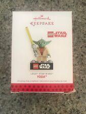2013 Hallmark Ornament Lego Star Wars Yoda - New In Box