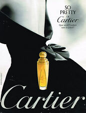 PUBLICITE ADVERTISING 025  1997  CARTIER  parfum femme SO PRETTY
