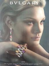 Bvlgari Elisia Bracelet Earrings JEWELRY Color Original Ad
