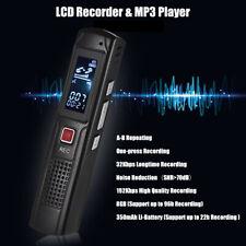 LCD Digital Diktiergerät Aufnahmegerät Audio Sound Recorder MP3 Player 8GB E4G5