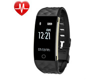 Waterproof Heart Rate Monitor, Bluetooth Smart Wristband Bracelet Activity