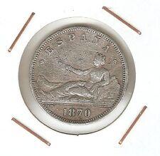 Primera República : 2 Pesetas 1870 ( ) DEM ( falsa de época en calamina )