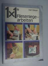 1x1 Fliesenlegerarbeiten Harry Beyer *DDR 1983=Werkzeuge,Wandflächen,Schäden